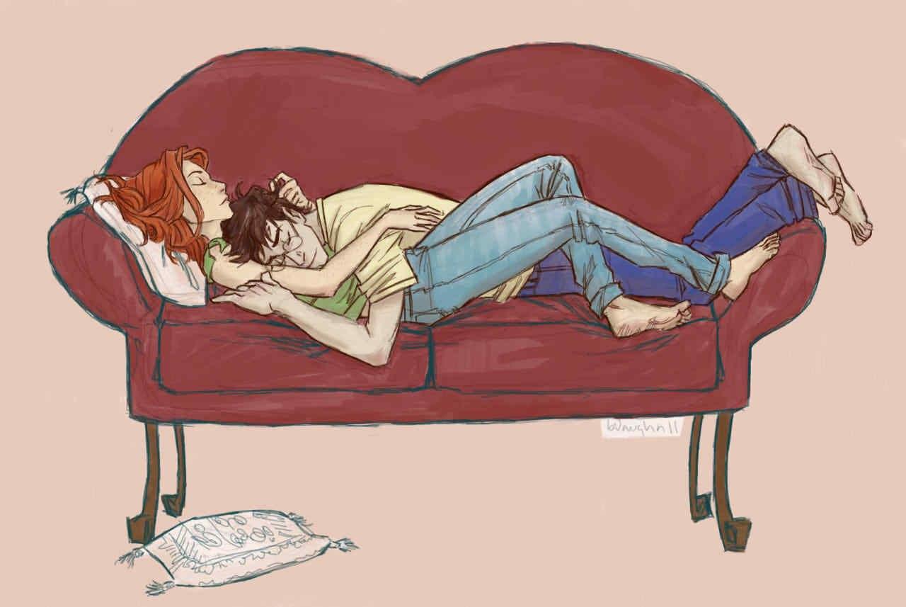 Нарисованные картинки как спят вместе
